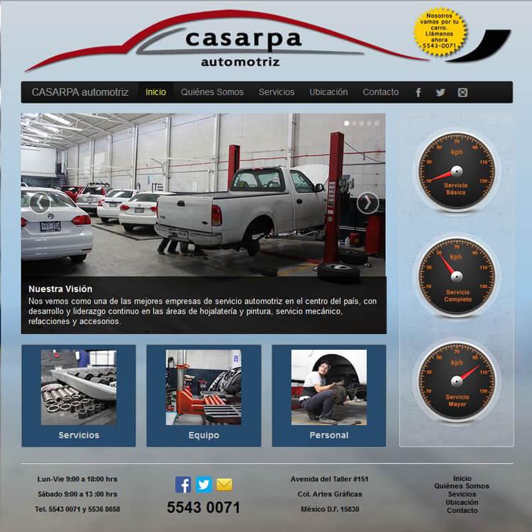 Automotriz CASARPA screenshot
