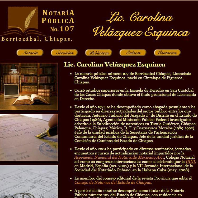 Notaria 107 Chiapas screenshot