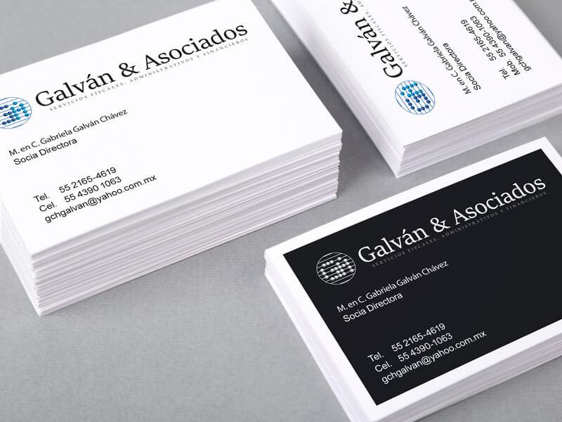 Tarjeta de presentación Galván y Asociados