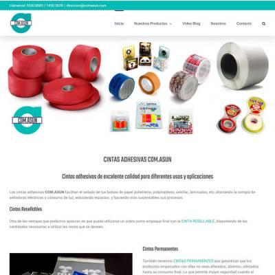 WebSite Cintas Adhesivas COM.ASUN