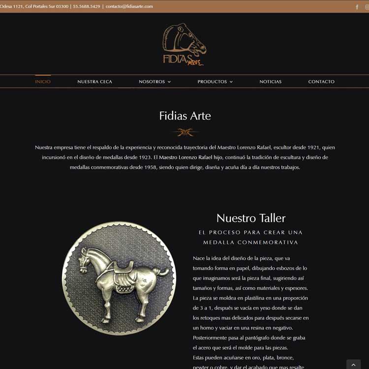 Fidias Arte WebSite