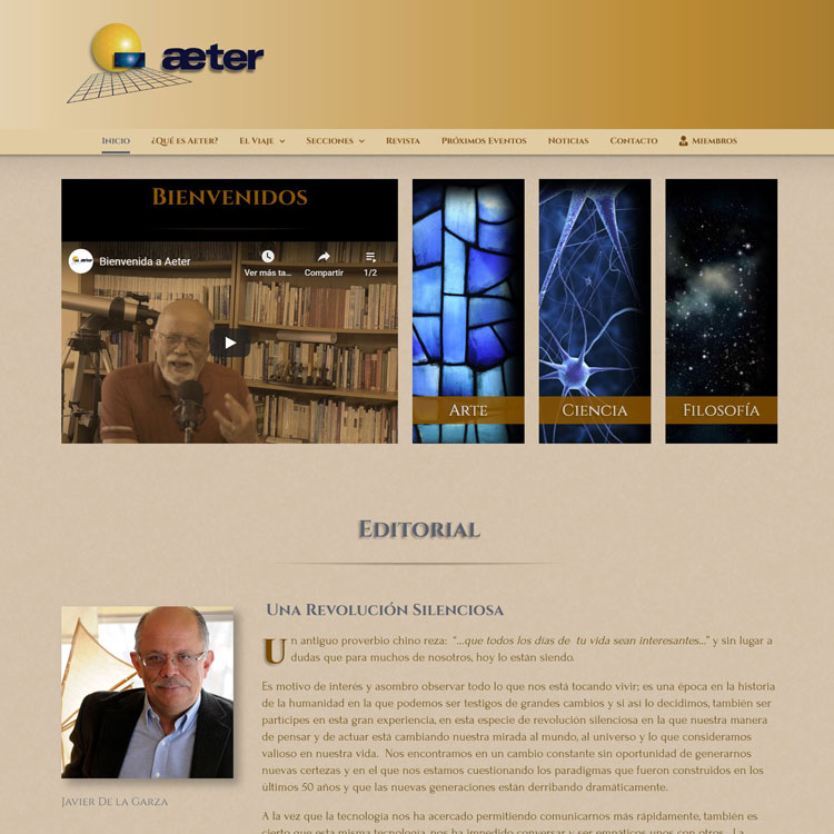 Aeter Academy WebSite